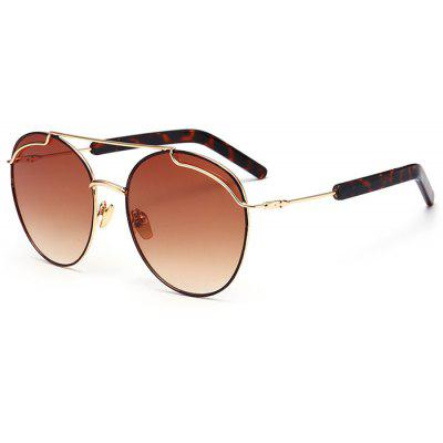 Polarized Double Metallic Crossbar Sunglasses