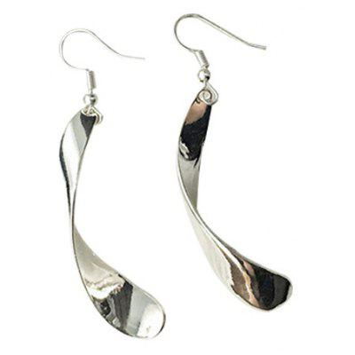 Alloy Wave Drop Earrings