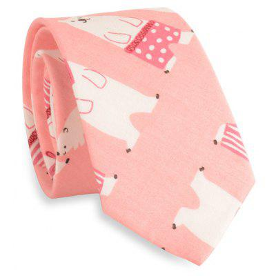 Cartoon Polar Bear Embellished Neck Tie