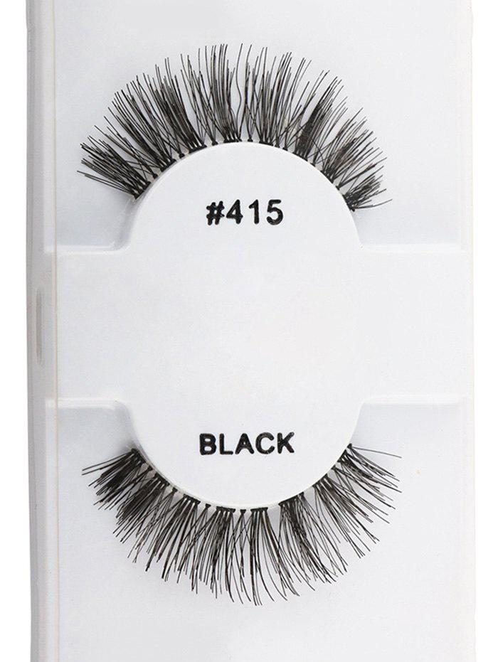 1 Pair Dense Natural Artificial Eyelashes