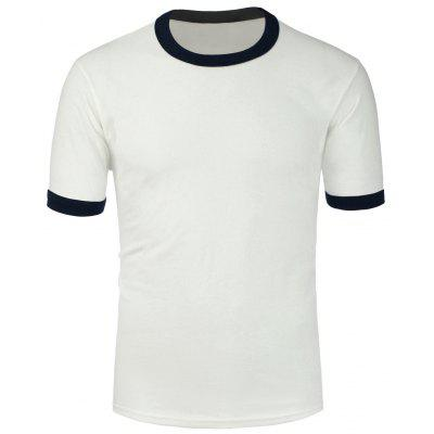 Crew Neck Color Spliced Plain T Shirts
