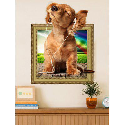 Buy 3D Dog Animal Wall Sticker For Kids Room BROWN Home & Garden > Home Decors > Wall Art > Wall Stickers for $3.98 in GearBest store
