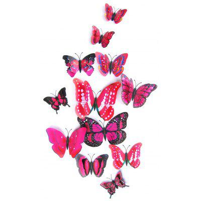 12Pcs/Set 3D Butterflies PVC Magnet DIY Wall Stickers