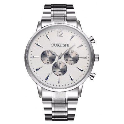 OUKESHI Metallic Strap Quartz Wrist Watch