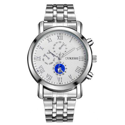 OUKESHI Alloy Strap Roman Numeral Quartz Watch
