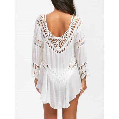 Semi-Sheer Crochet Dress Cover Up