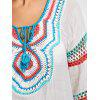 Crochet Panel Cover Up with Pompom - WHITE