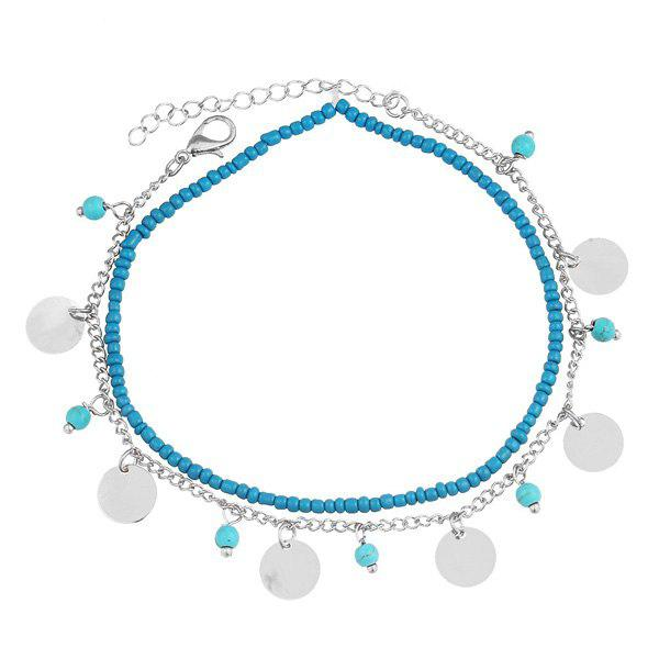 Bohemian Faux Turquoise Beads Anklet