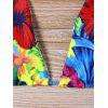 Halter Neck Tropical Bikini Set - COLORMIX