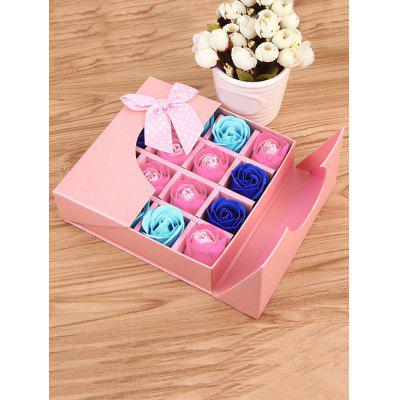 1 Box 16 Grids Artificial Soap Rose Bowknot Mother's Day Gift
