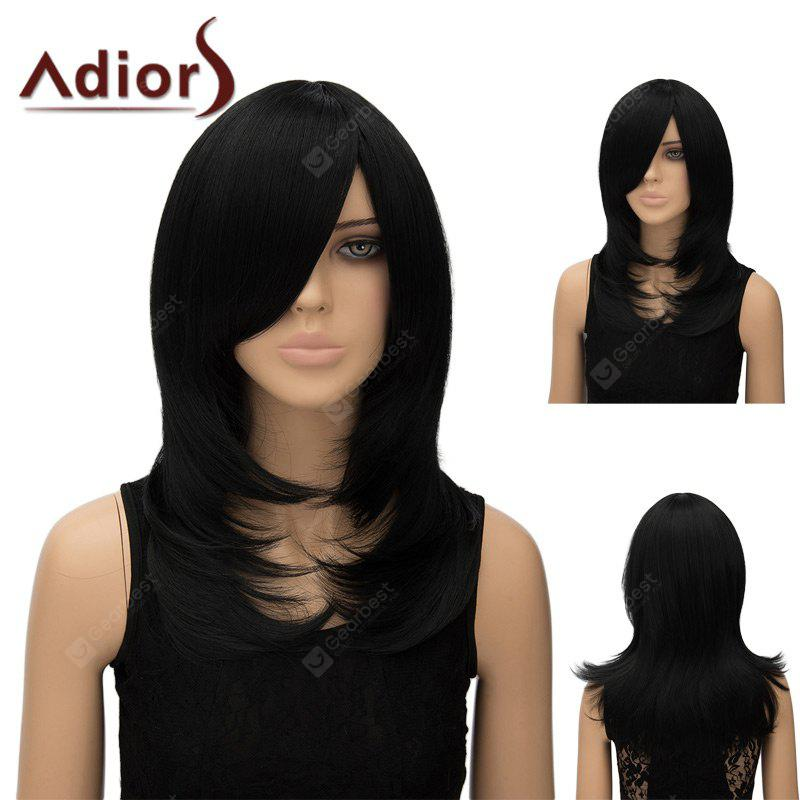 Adiors Long Tail Adduction Inclined Bang Straight Cosplay Anime Wig