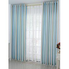 Stripe Window Decor Blackout Curtain ( Without Tulle )