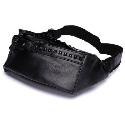 Faux Leather Studded Sling Bag