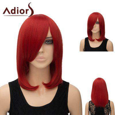 Buy RED Adiors Medium Side Bang Silky Straight Tail Adduction Cosplay Anime Wig for $15.91 in GearBest store