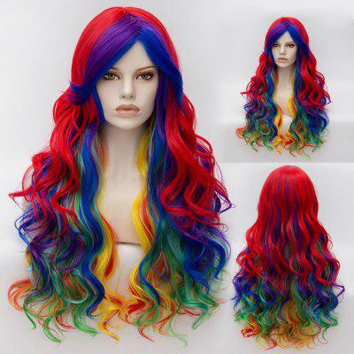 Long Wavy Side Bang Gradient Synthetic Cosplay Lolita Wig