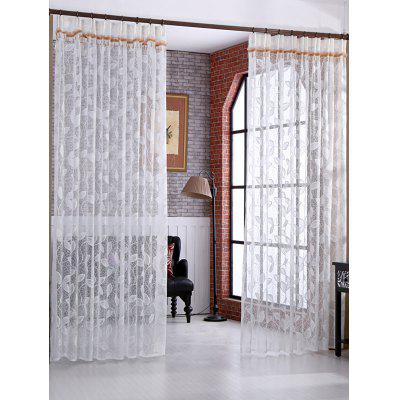 Rattan Embroidery Sheer Fabric Tulle Curtain