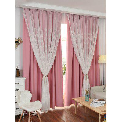 Princess Double Layers Blackout and Tulle Curtains