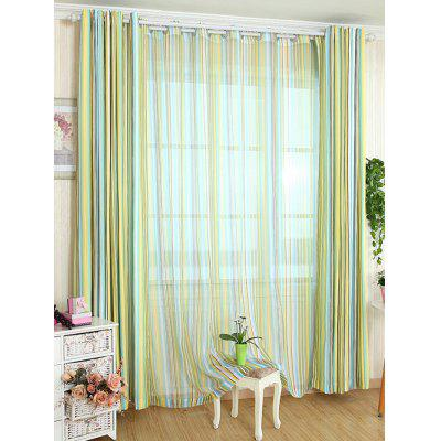 Stripe Window Decor Blackout Curtain(Without Tulle)