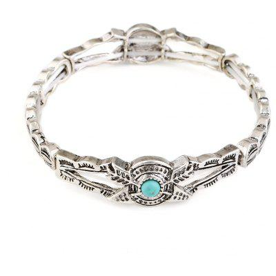 Faux Turquoise Arrow Hollow Out Bracelet