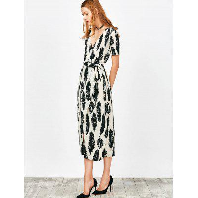 Wrap Feather Print Maxi DressMaxi Dresses<br>Wrap Feather Print Maxi Dress<br><br>Dresses Length: Ankle-Length<br>Material: Polyester<br>Neckline: V-Neck<br>Occasion: Casual , Going Out<br>Package Contents: 1 x Dress<br>Pattern Type: Print<br>Season: Summer<br>Sleeve Length: Short Sleeves<br>Weight: 0.4100kg<br>With Belt: Yes