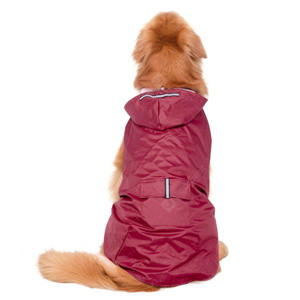 Waterproof Hooded Raincoat Large Dog Clothes