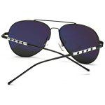 Polarized UV Protection Pilot Sunglasses - BLACK+GREY