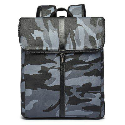 Buy Camouflage Print PU Leather Backpack CAMOUFLAGE for $26.52 in GearBest store