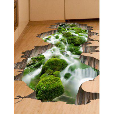 3D Stream Removable Floor Sticker