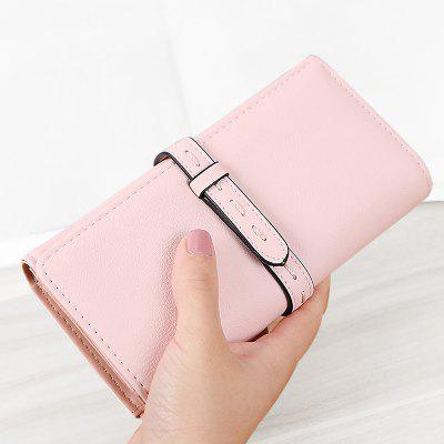 Stitching Tri Fold Clutch Wallet