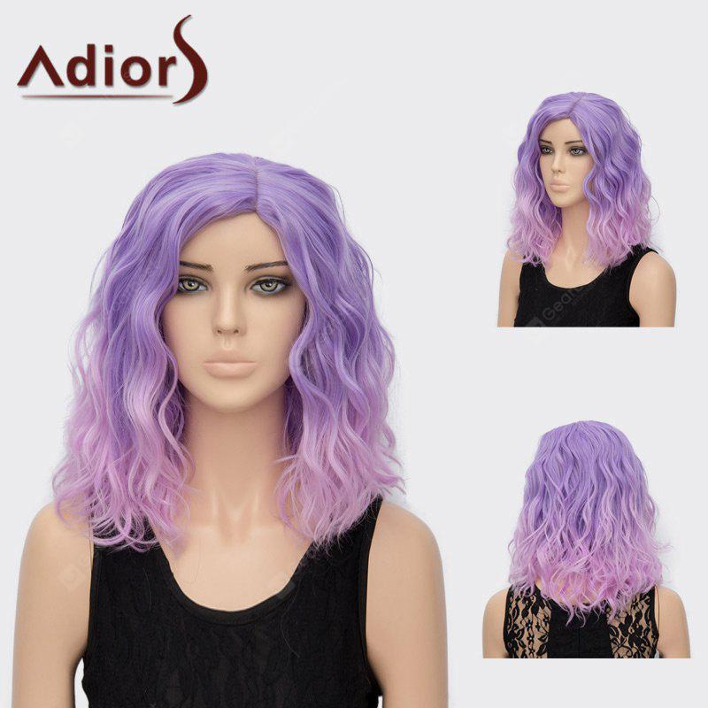 Adiors Medium Side Part Shaggy Curly Colormix Synthetic Wig