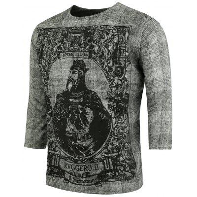 Chinese Royal Style Half Sleeve Plus Size T-Shirt