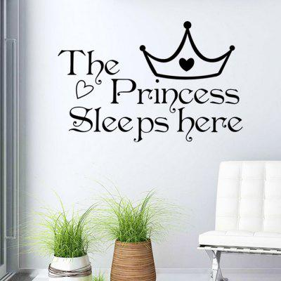 Buy Princess Crown Letter Wall Stickers For Bedrooms BLACK Home & Garden > Home Decors > Wall Art > Wall Stickers for $5.48 in GearBest store