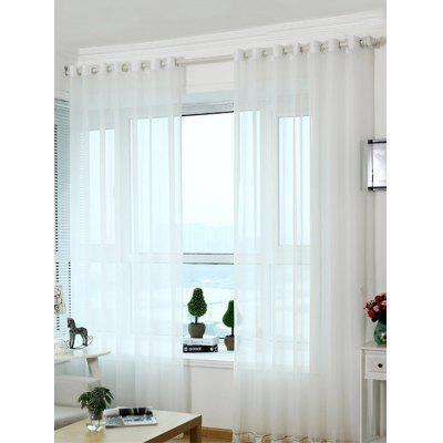 Beads Pendant Voile Fabric Transparent Window Curtain