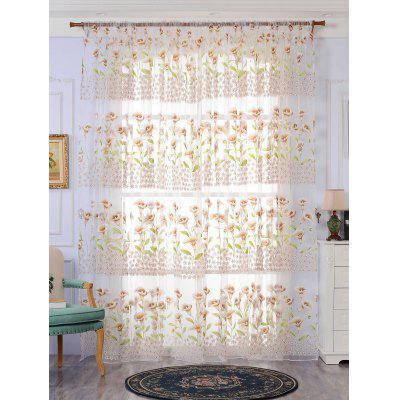 Calla Lily Transparent Window Curtain