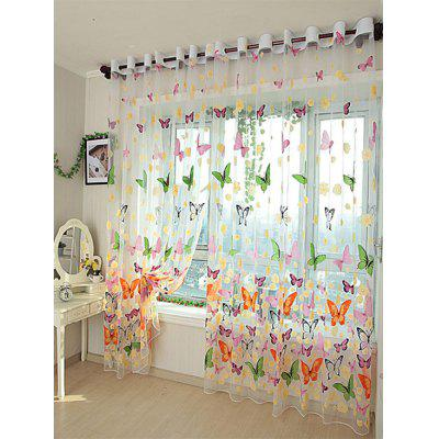 Butterfly Flower Transparent Window CurtainWindow Treatments<br>Butterfly Flower Transparent Window Curtain<br><br>Applicable Window Type: French Window<br>Function: Translucidus (Shading Rate 1%-40%)<br>Installation Type: Ceiling Installation<br>Location: Window<br>Material: Voile Curtain<br>Opening and Closing Method: Left and Right Biparting Open<br>Package Contents: 1 x Window Curtain<br>Pattern Type: Floral, Butterfly<br>Processing: Punching<br>Processing Accessories Cost: Excluded<br>Style: European and American Style<br>Type: Tulle<br>Use: Cafe, Hospital, Hotel, Office, Home<br>Weight: 0.3300kg