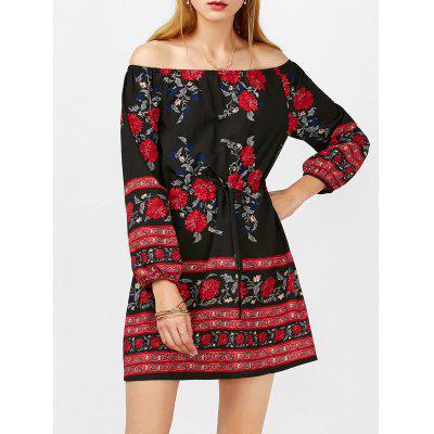 Off Shoulder Floral Long Sleeve Mini DressWomens Dresses<br>Off Shoulder Floral Long Sleeve Mini Dress<br><br>Dresses Length: Mini<br>Material: Polyester<br>Neckline: Off The Shoulder<br>Package Contents: 1 x Dress<br>Pattern Type: Print<br>Season: Fall, Spring<br>Silhouette: A-Line<br>Sleeve Length: Long Sleeves<br>Style: Cute<br>Weight: 0.3500kg<br>With Belt: No