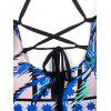 Cross Back One Piece Tropische Bademode - COLORMIX