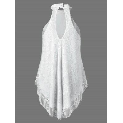 Cut Out Lace Tank TopTank Tops<br>Cut Out Lace Tank Top<br><br>Material: Nylon, Spandex<br>Package Contents: 1 x Tank Top<br>Pattern Type: Floral<br>Shirt Length: Regular<br>Style: Casual<br>Weight: 0.3800kg