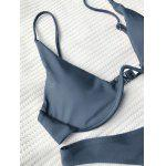 Underwired Plunge Bathing Suit - GRAY