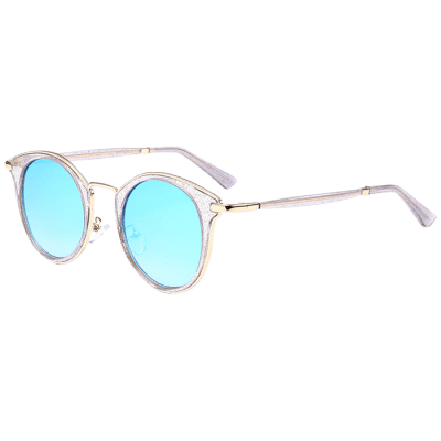 Cat Eye Metal Frame Wrap Sunglasses