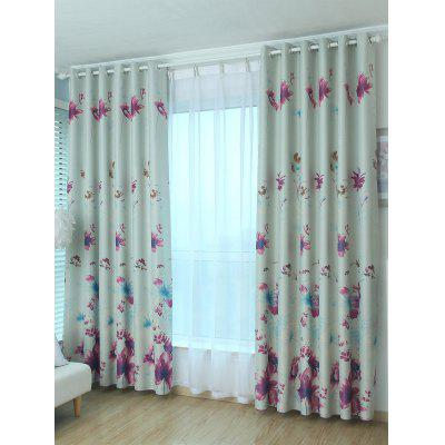 Floral Blackout Window Curtain