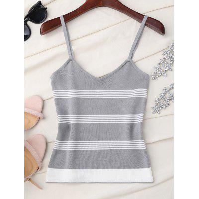 Slip Striped Knitted Tank Top