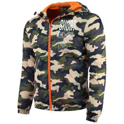 Hooded Camo Sun UV Protection Jacket