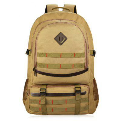 Buckle Straps Mesh Panel Outdoor Backpack