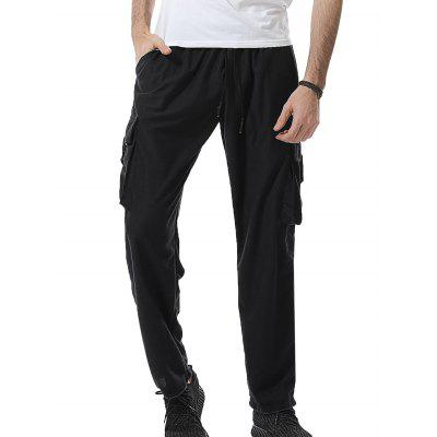 Plastic Buckle Design Pockets Baggy Cargo Sweatpants pepe jeans pm503591 580