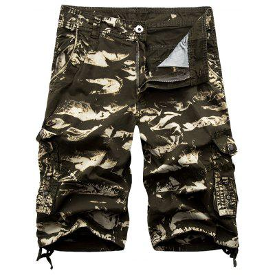 Zip Fly Cargo Shorts with Multi Pockets