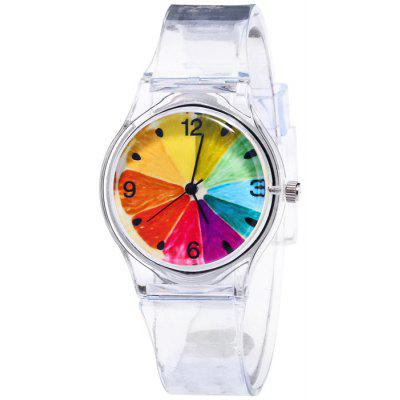 Silicone Strap Fruit Face Quartz Watch