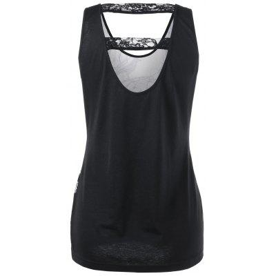 Lace Trim Cut Out Skull Tank TopTank Tops<br>Lace Trim Cut Out Skull Tank Top<br><br>Material: Polyester, Spandex<br>Package Contents: 1 x Tank Top<br>Pattern Type: Skulls<br>Shirt Length: Long<br>Style: Casual<br>Weight: 0.3600kg