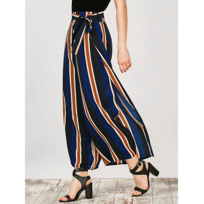 Buy STRIPE L Striped Wide Leg Slit Pants for $20.36 in GearBest store