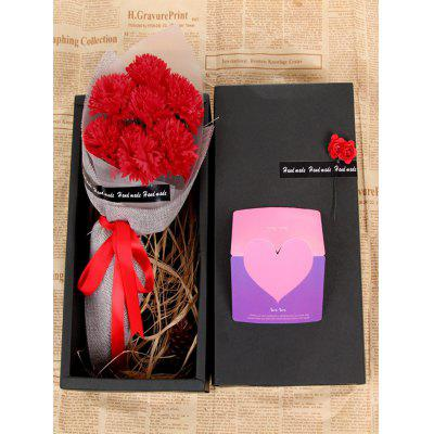 7 Pcs Mother's Day Gift Soap Carnations Artificial Flowers